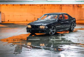 E39, BMW, M5, stance, tuning, parking