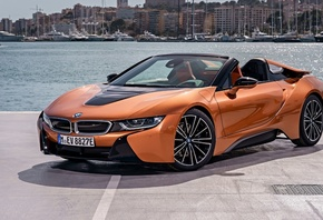 BMW, i8, Roadster, 2018, electric car, cabriolet