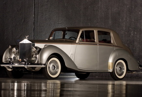 rolls-royce, silver, dawn, 1949, retro