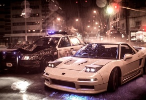 Need For Speed, Acura, Nsx, Police, Car, игры