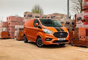 Ford, Transit, Custom, Orange