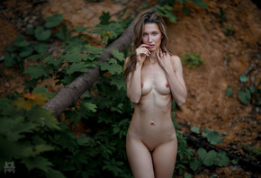 women, Mihail Gerasimov, nude, belly, ribs, shaved pubic hair, boobs, nippl ...