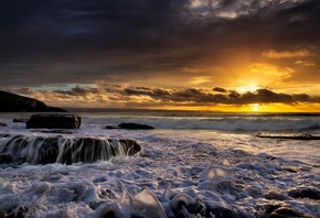Southerndown, Southerndown, Bay Dunraven, Dunraven Bay, Wales, England, sea, Wales, England, sunset