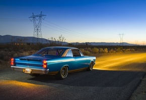 1967, ford, Fairlane, cars, classic, coupe, blue