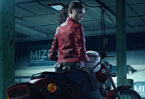 Resident Evil, 2 2019, Claire Redfield, Harley Davidson