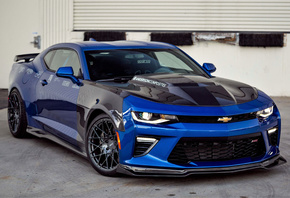 Chevrolet, Camaro, blue, sports coupe, tuning, Anderson Composites