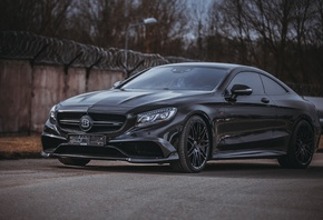 Mercedes-Benz, S-class, Coupe, Brabus, C217, S65, AMG, W217, black