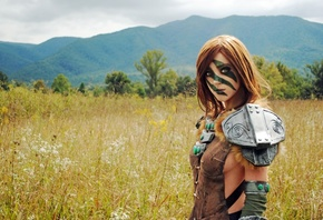 воительница, косплей, Women, The Elder Scrolls, Skyrim, Cosplay, Эйла, Aela, Huntress, April Gloria