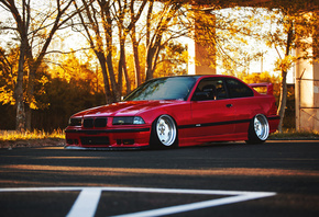 BMW, E36, stance, tuning, parking