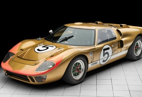 Ретро, Ford, GT40, Race Car, 1966