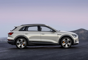 Audi, E-Tron, 2019, side view, electric crossover