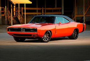 Dodge, Charger, tuning, muscle cars, 1969