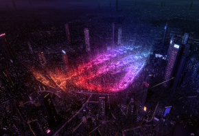 Republic Of Gamers, City, Lights