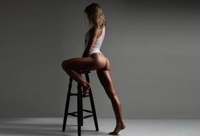 studio, people, sporty, body, fit, legs, ass, booty, blonde, studio  light, woman, Oksana, passion, motivation, Tomash