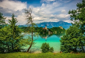 Slovenia, Bled, озеро, природа