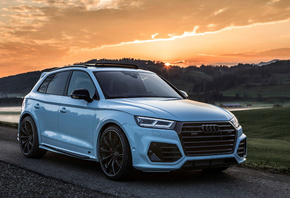 Audi, SQ5, ABT, Widebody, white