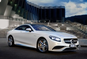 Mercedes Benz, S63, White, Side View, Luxury, Cars, v8