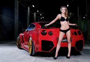 Prior Design, Nissan, Gtr, lady, woman, girl