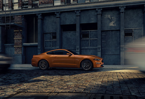 Ford, Mustang, City, Street