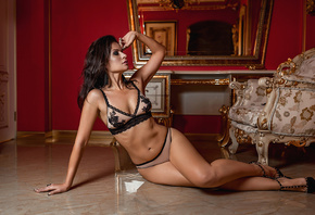 girl, body, figure, pose, sexy lingerie, interior, glamor, George Dyakov