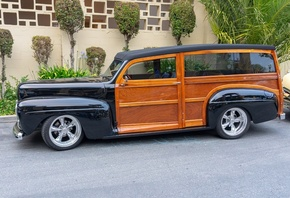 Station Wagon, Vintage Cars, Side View, Custom