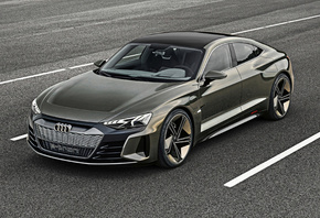 Audi, E-Tron, GT, Concept, four-door, sports coupe