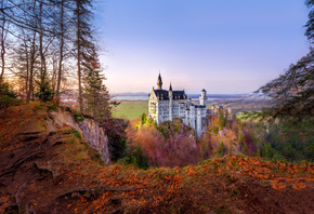 Schwangau, Neuschwanstein, Castle, Germany, Bavaria, Alps