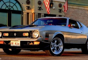 ford, mustang, 1971, retro