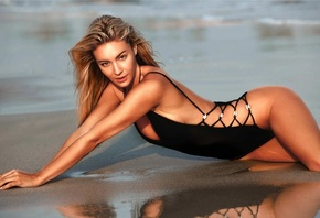 long hair, black hair, lingerie, Person, swimwear, clothing, supermodel, Bryana Holly, beauty, leg, hairstyle, human