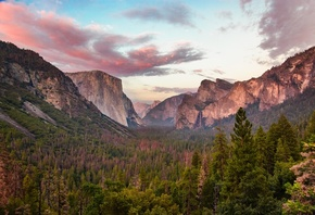 Tunnel, View, At Dusk, Yosemite