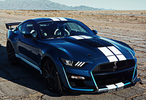 Ford, Mustang, Shelby, GT500, blue, sports car