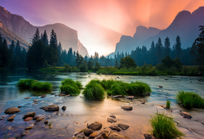 Yosemite, National Park, California, Национальный парк, Йосемити, Калифорния, пейзаж