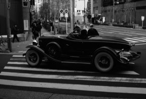 Japan, Leica, Vintage car, Tokyo, Hot Rod, Sedan