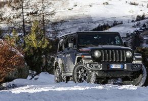 Jeep, Wrangler, Unlimited, Rubicon, SUV, зима, снег