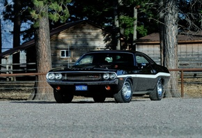 Dodge, Challenger, Rt 440, Six Pack, Muscle, Cars, Black