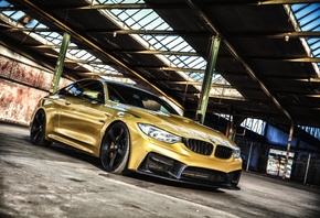 Bmw, M4, Yellow, Reflection, Luxury, Cars