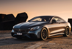 Mercedes-Benz, S63, Coupe, AMG, supercar, gray coupe, tuning, luxury car, n ...