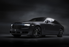Rolls-Royce, Ghost, Black, Badge