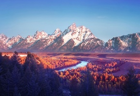 Grand Teton, National Park, горы, природа