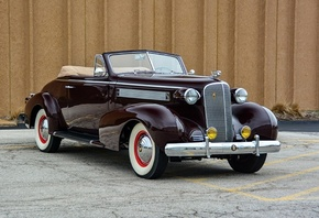 cadillac, series 60, convertible, coupe, 1937