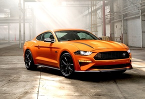 Orange, Ford, Mustang, Muscle Cars
