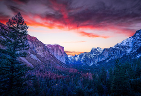 Yosemite, National Park, California, природа