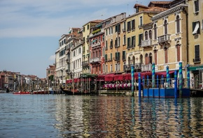 вода, венеция, канал, италия, гранд-канал, water, venice, channel, italy, t ...