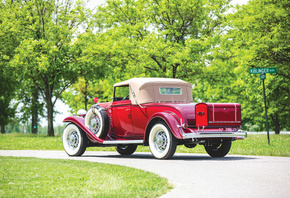 Buick, Retro, 1932, Series 90, Convertible, Coupe, Rot, Hinten