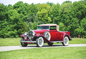 Buick, Ретро, 1932, Series 90, Convertible, Coupe, Купе, Красный