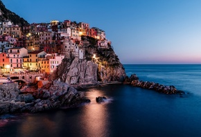 Italy, Vernazza, Holiday, Buildings, Ocean, Scenic, Horizon, Coast, Cliff