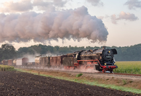 паровоз, steam, locomotive, railroad, train, grass, Apeldoorn, Guelders, Netherlands