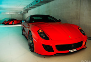 car, red, vehicle, house, Tone, grey, Nikon, sports car, Ferrari, swimming, silver, rims, lightroom, performance car, Hypercar, brakes, GTO, Enzo, two, wheel, twotone, 3, pool, supercar, collection, d40, 1855, v12, 599, combo, private, land vehicle, autom