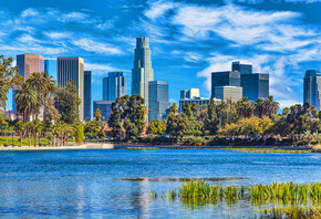 Los Angeles, summer, modern buildings, California, cityscapes