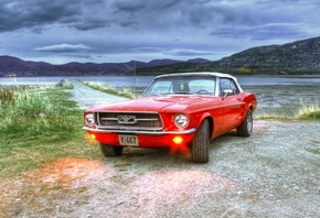 форд, mustang, hdr